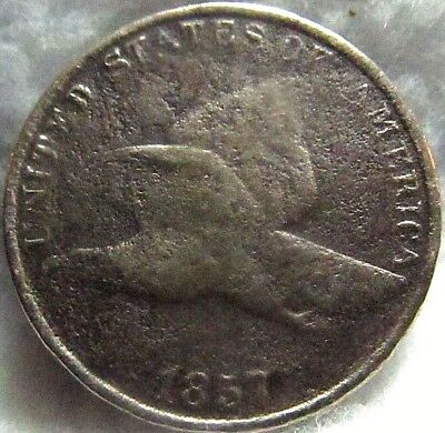 1857 1C Flying Eagle Cent ~ Small Letters, Good Cond.