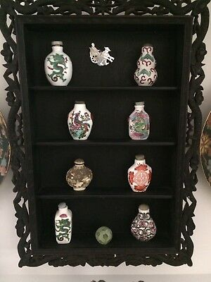 Chinese Snuff Bottles And Display Frame