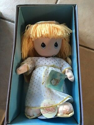 Precious Moments Guardian Angel Doll & Pin - New In Box