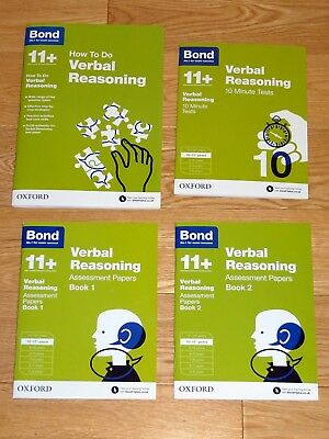Bond 11+ Verbal Reasoning set - How To, 10 Minute Tests, Assessment Papers 1 & 2
