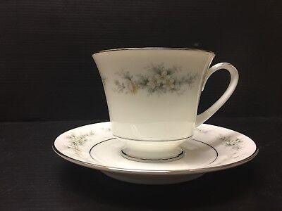Noritake Cup And Saucer Set Of 1, Contemporary Fine China, Melissa3080. A113 Jv