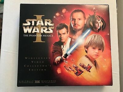 Star Wars I The Phantom Menace VHS Collector's Edition with 35mm Film Strip