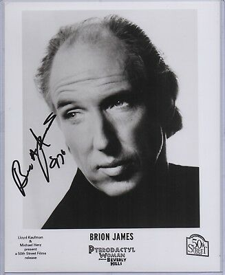 BRION JAMES signed 8x10 photo AUTOGRAPH Very Rare d1999 Blade Runner Leon