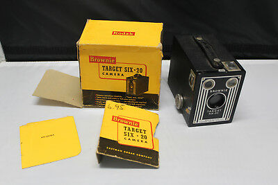 Vintage Brownie Target Six - 20 Box Camera By Eastman Kodak