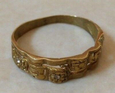 ancient roman ring bronze authentic beautiful amazing rare type