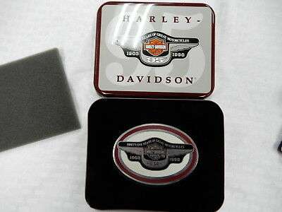 HARLEY DAVIDSON 95 years belt buckle in Tin limited edition Anniversary