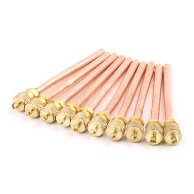 10x Air Conditioner Refrigeration Access Valves OD 6mm Copper Tube Filling Parts
