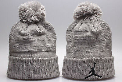 NBA Michael Jordan Hat Beanie Fan Winter Kint Lint Cap Wool Cap Gray