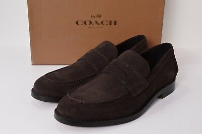 4912d9b3a4b ALLEN EDMONDS CARLSBAD Mens Size 8D Woven Brown Leather Penny Loafer ...