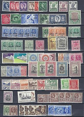 UK GB BRITISH COMMONWEALTH 1900 1960's COLLECTION OF 218 MINT INCLUDES BAHRAIN