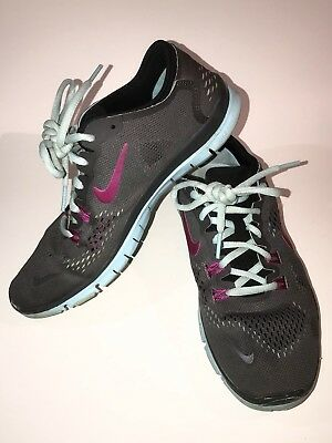 eb5da25a40425 NIKE LUNARGLIDE+ 4 Womens Running Shoes 524978 004 Grey Blue Size ...