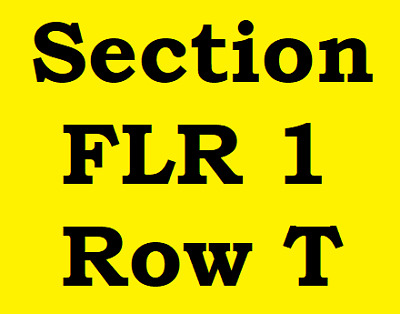 2 Tickets Phil Collins Quicken Loans Arena Cleveland Thursday October 18, 2018