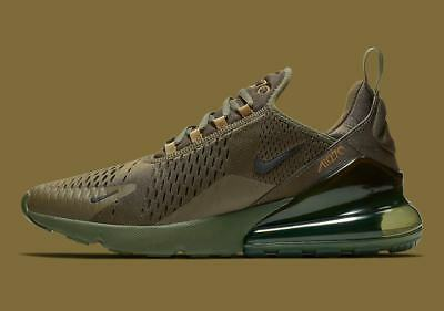 New Nike Men's Air Max 270 Shoes (AH8050-301)  Olive Canvas/Golden Moss-Black