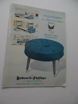 1956 Babcock Phillips Hossocks Footstool Furniture Catalog Atomic Age Vintage VG