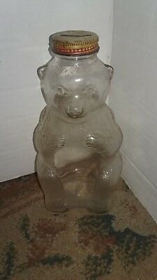 Vintage  Glass Bear Bank