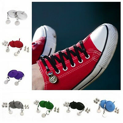 1 Pair of Perfect One Hand No Tie Laziness Shoelace Laces Elastic Convenient Hot