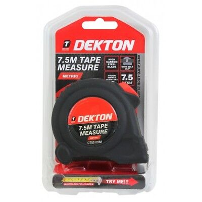 Dekton 7.5m Tape Measure (metric) - 75m Metric Only Measuring Retractable