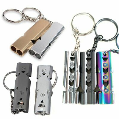 EDC Survival Whistle Double Tube Lifesaving Emergency SOS Outdoor Camping Hiking