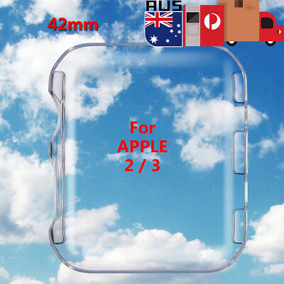 42mm Clear Ultra Full Case Cover Screen Protector for Apple Watch Series 2 / 3