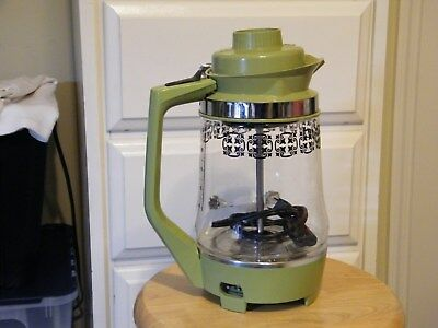 Vtg70's MOD PROCTOR SILEX AVOCADO GREEN  Glass Coffee Maker Electric Percolator