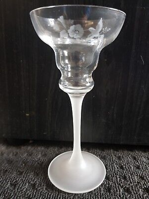 Avon Crystal Candle Holder Hummingbird