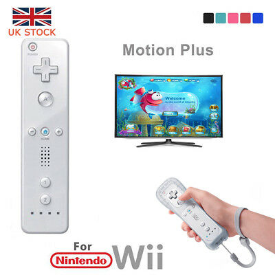 UK Wiimote Built in Motion Plus Inside Game Remote Controller For Nintendo Wii