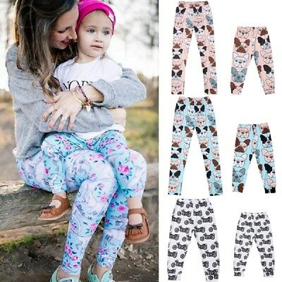 US Seller Mother Father Kids Baby Leggings Family Matching Sports Pants Trousers
