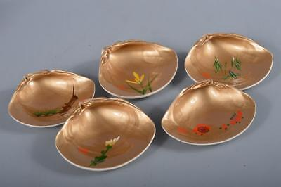 R5501: Japanese Shell Flower Bamboo pattern SERVING PLATE/dish 5pcs