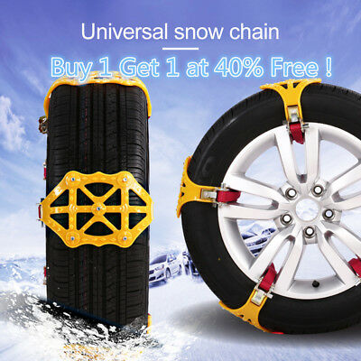 Universal Car Safety Snow Winter Anti-skid Chains Beef Tendon Emergency Z