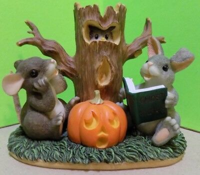 "Charming Tails~""GHOST STORIES FIGURINE""~""HALLOWEEN""~Enesco/Dean Griff~85/703~EUC"