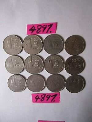 12 x 1 baht  coins from Thailand     30   gms      Mar4897