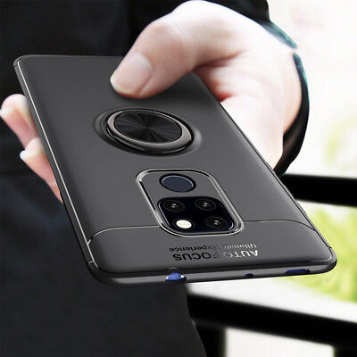 For Huawei Mate 20 Pro Lite 10 Shockproof Magnetic Ring Holder TPU Case Cover