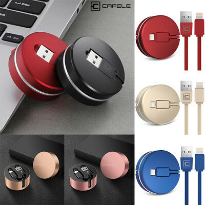 Cafele USB Cable for iPhone XS XR X 6 7 8 Retractable to USB Cable Fast Charger