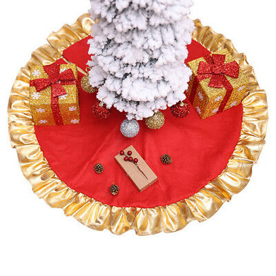 90cm christmas tree soft skirt floor mat cover red xmas party home decor _S