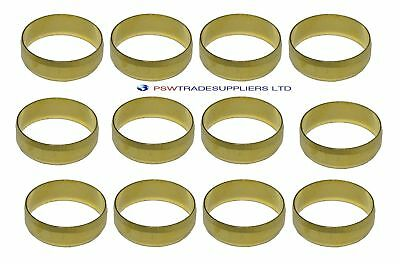 15mm Brass Olives (10/15/20/25/50 Pack) For Compression Plumbing Fittings