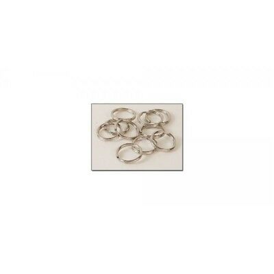 "Split Rings 1/2"" (13mm) - Nickel Plate Finish - Nickel Free - Pack Of 10"