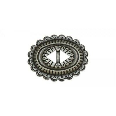 Slotted Concho - Sonora Design - Nickel Free - Frosted Nickel Finish - Medium