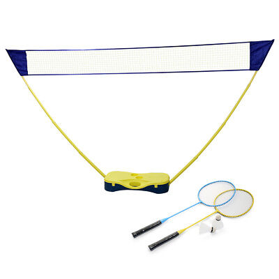 Portable Badminton Full Set Volleyball Net Beach Outdoor Stand Pop Up Travel