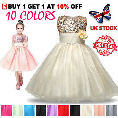 Flower Girl Fancy Dresses Princess Formal Pageant Holiday Wedding Bridesmaid