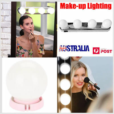 Super Bright Vanity Mirror Portable Light Bulbs 4LED Glow Make Up Cosmetic ON