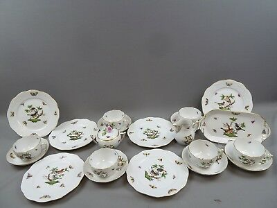 Herend Rothschild Kaffeeservice 6 Personen Hungary coffee set for six