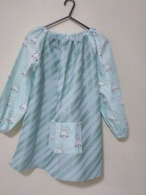 Kids Rabbit   Art Smock Girls  8-10 With Thermal Backing For Extra Protection