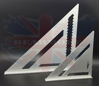 "Aluminium Roofing Quick Square 12"" ,7""cm Rafter Angle Frame Measuring Carpenter"