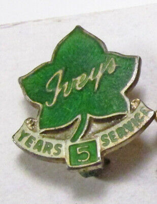 Vintage 3pc Ivey's Department Store NC Sterling & 14K Gold Employee Service Pins