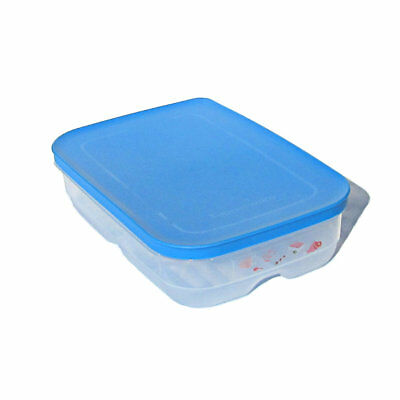 Tupperware NEW Cool Mates Low Meat Keeper Surf n Turf 1.8 Litre blue