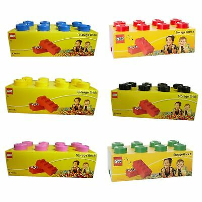 Lego Storage Brick 8 Knobs Stackable Container Box 4 to Choose 3+