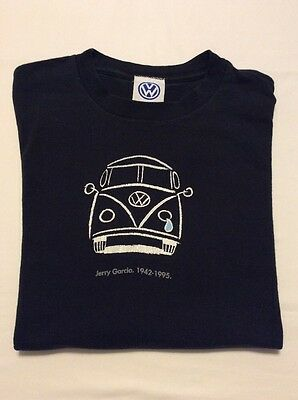 Original Vtg 1995 Jerry Garcia Memorial TShirt Crying VW Bus Grateful Dead