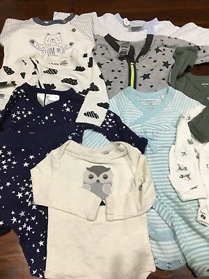Boys 16 Pcs Bundle New Born 0000 As New. Carters,bonds,pumpkin Patch, Cotton On