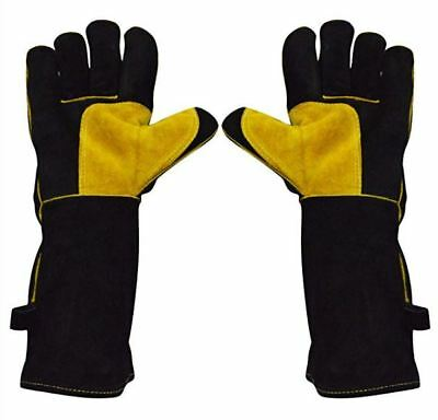 Safety Master Cowhide Leather Welding Gloves Hand Protection Heat Resistance