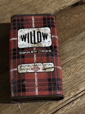 Vintage Willow Steel Cooler Brick   rare and highly collectable.